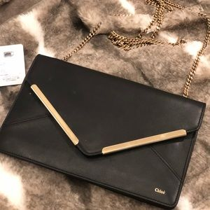 Chloe wallet on a chain evening bag